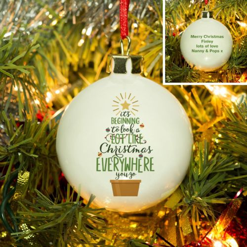 Personalised It's Beginning To Look A Lot Like Christmas Bauble